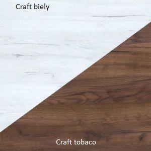 WIP Šatníková skriňa RIO 23 Farba: craft biely / craft tobaco