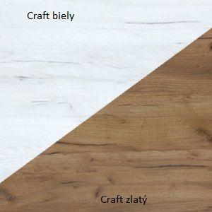 WIP Vitrína RIO 27 Farba: Craft biely / craft zlatý
