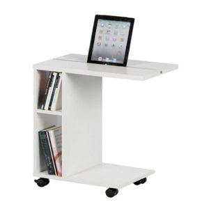 Príručný stolík, biela, NIDEN