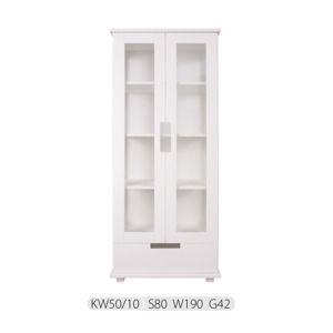 Drewmax  Vitrína - masív KW50/10 borovica