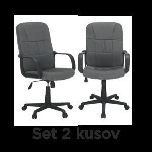 2 kusy, kancelárske kreslo, sivá, TC3-7741 New