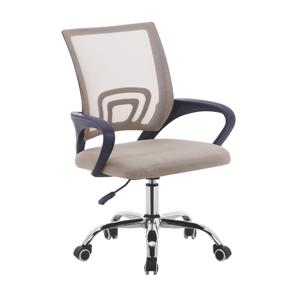 Kancelárska stolička,  sivohnedá TAUPE/čierna, DEX 2 NEW
