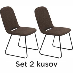 2 kusy, jedálenská stolička, hnedá/čierna, ADLAN