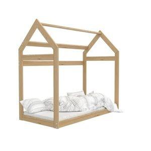 ArtAJ Detská posteľ montessori Domček Farba: Borovica, Prevedenie: 160 x 80 cm