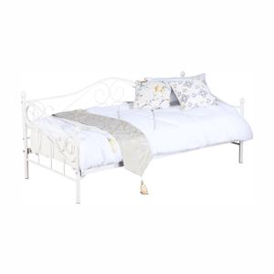 Kovová posteľ, biela, 90x200, DAINA