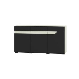 WIP Komoda BRYZA BRK-1C Farba: biely mat / čierny lesk /biely alebo čierny úchyt