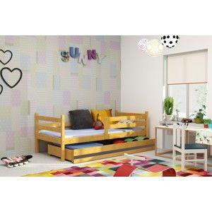 BMS Detská posteľ Eryk Farba: Jelša / sivý pásik, Rozmer, materiál: 200 x 90 cm