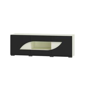WIP TV stolík BRYZA BRTV-1C Farba: biely mat / čierny lesk /biely alebo čierny úchyt