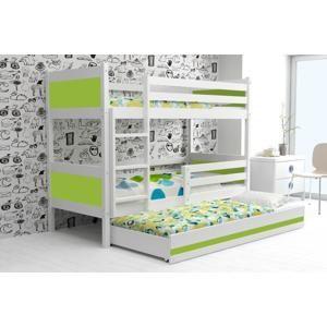 BMS Detská poschodová posteľ Rino 3 - 80 x 190 Farba: Zelená