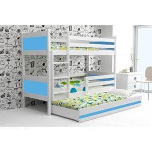 BMS Detská poschodová posteľ Rino 3 - 80 x 190 Farba: Modrá