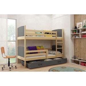 Detská poschodová posteľ Tami 2 BMS 80 x 190 Farba: Borovica / sivá
