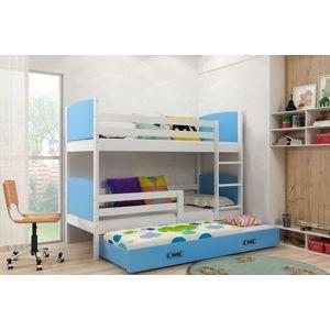 Detská poschodová posteľ Tami 3 BMS 80 x 190 Farba: biela / modrá