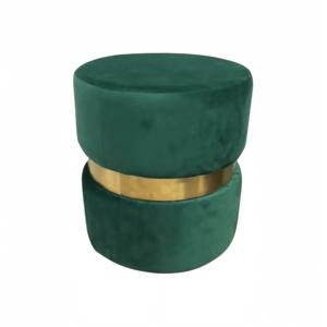 Taburet, smaragdová Velvet látka/zlatý náter, VIZEL