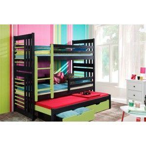 ArtBed Detská poschodová posteľ Roland III Prevedenie: Morenie - Farba