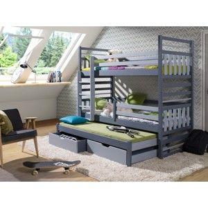 ArtBed Detská poschodová posteľ Hipolit Prevedenie: Morenie - Farba