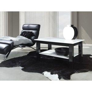 ArtMadex Konferenčný stolík Idex s poličkou Farba: biely lesk / čierny lesk, Prevedenie: T25