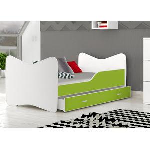 ArtAJ Detská obrázková posteľ KEVIN 140 x 70 farba postele: zelená 140 x 70 cm