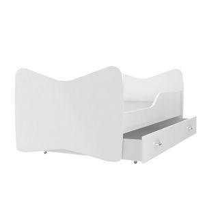 ArtAJ Detská obrázková posteľ KEVIN 140 x 70 farba postele: biela 140 x 70  cm