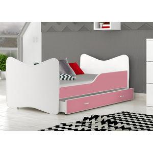 ArtAJ Detská obrázková posteľ KEVIN 140 x 70 farba postele: ružová 140 x 70 cm