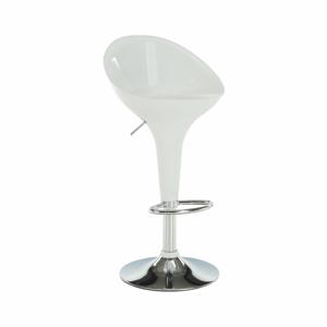 Barová stolička, biela/chróm, ALBA NOVA, rozbalený tovar