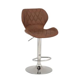 Barová stolička, hnedá/chróm, SOFALA