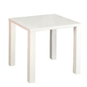 Jedálenský stôl, biela vysoký lesk HG, ASPER NEW TYP 5