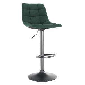 Barová stolička, zelená/čierna, LAHELA, rozbalený tovar