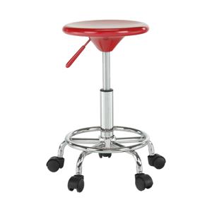 Stolička, červená/chróm, MABEL 3 NEW