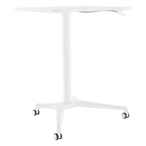 Pracovný stôl s nastaviteľnou výškou, biela, NIXON, rozbalený tovar