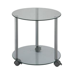 Pojazdný príručný stolík, sivá, TALAN
