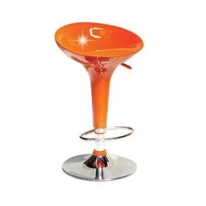 Barová stolička, oranžová/chróm, INGE 2 NEW