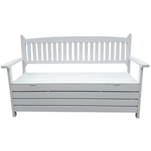 Záhradná lavička, biela, 150cm, AMULA