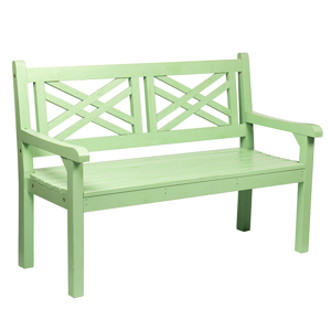 Drevená záhradná lavička, neo mint, 124 cm, FABLA